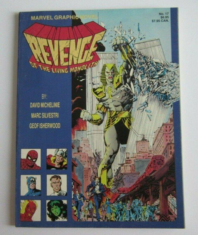 Marvel Graphic Novel #17 FN/VF Revenge of the Living Monolith 1st Apocalypse