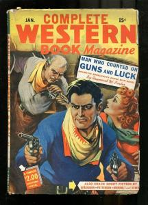 COMPLETE WESTERN PULP-1944-JAN-BLACKBURN-GUNFIGHT COVER VG