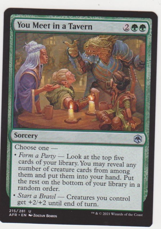 Magic the Gathering: Adventures in the Forgotten Realms - You Meet in a Tavern