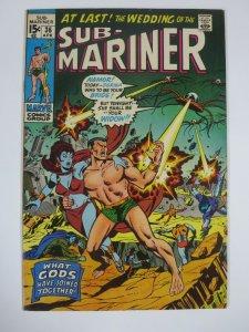 SUB-MARINER #36 (Marvel, 4/1971)  VERY FINE (VF) Dorma! Wrightson Inks!