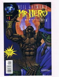 Neil Gaimans Mr Hero #1 NM Tekno Comix Comic Book Mar 1995 DE28