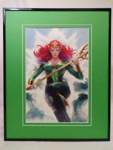 Mera Queen of Atlantis Framed 16x20 Poster Display DC Comics Artgerm GGA