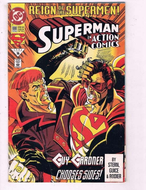 Action Comics #688 VF DC Reign Of the Supermen Comic Book
