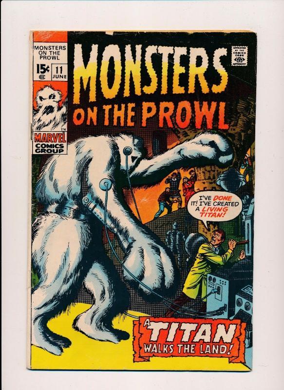 MARVEL MONSTERS ON THE PROWL #11 A TITAN Walks the Land VG (SRU646)