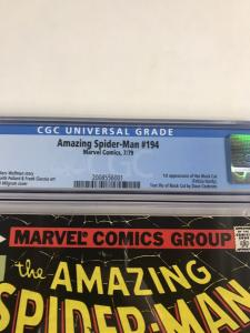 Amazing Spider-man 194 Cgc 9.8 White Pages 1st First Appearance Of Black Cat