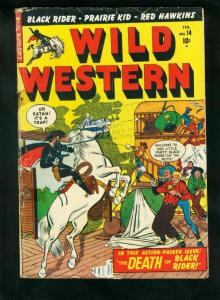 WILD WESTERN #14 1951-GUNHAWK-PRAIRIE KID-RED HAWKINS-good G