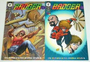 Badger: Zen Pop Funny-Animal Version #1-2 VF/NM complete series - mike baron set