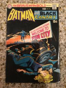 DC The Brave And The Bold 91 Starring Batman And Black Canary