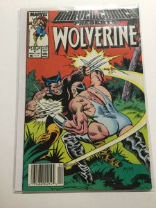 Marvel Comics Presents 4 Near Mint Nm Wolverine. Newsstand Edition  Marvel