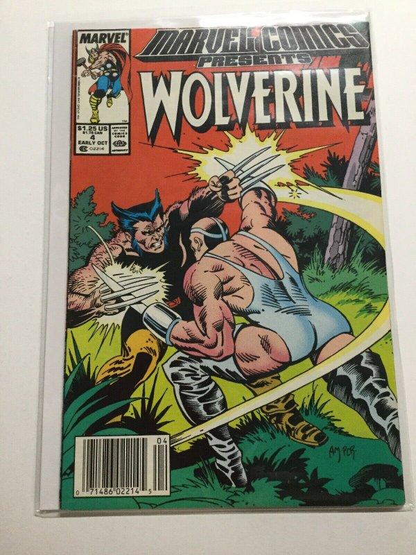Marvel Comics Presents 4 Near Mint Nm Wolverine. Newsstand Edition  Marvel