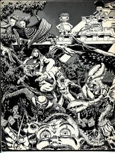 Manticore #1 1976-Joe Kubert School of Art-Harry 'A' Chesler-Bissette-Yeates-FN