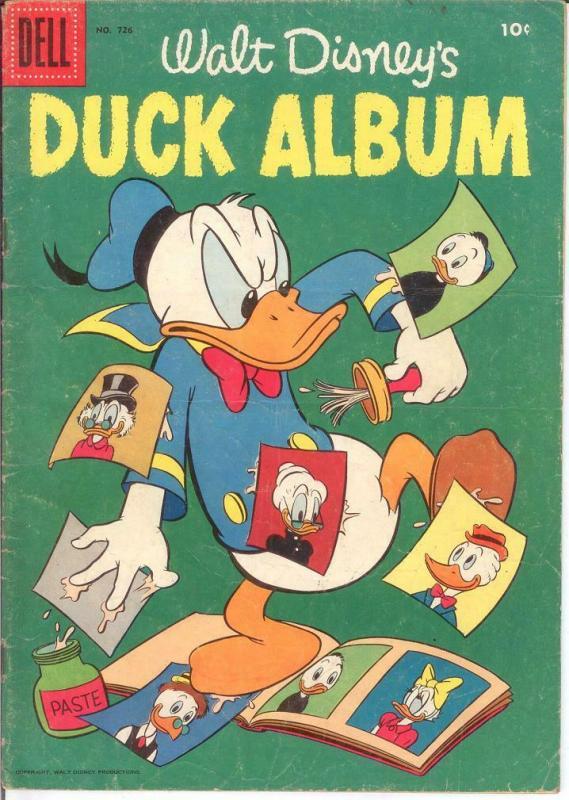 DUCK ALBUM F.C. 726 G-VG 1956 COMICS BOOK