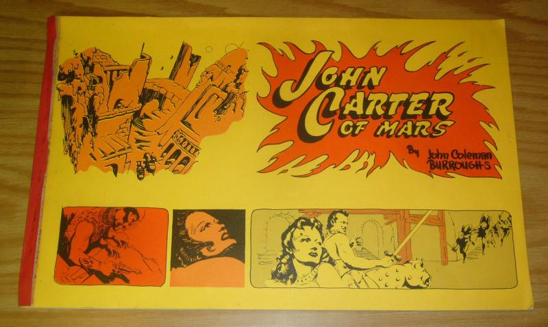 John Carter of Mars by John Coleman Burroughs  house of greystoke 1970 rare book