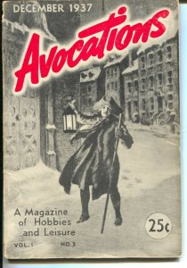 Avocations #3 12/1937-Magazine of Hobbies & Leisure-stamps-coins-autographs-VG