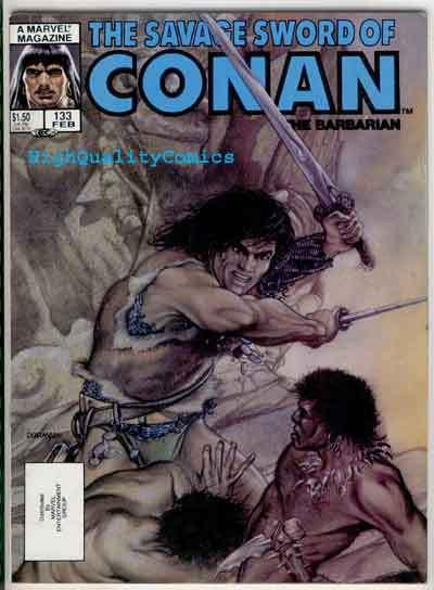 SAVAGE SWORD of CONAN #133, VG/FN, Kull , Beekman, Chan, more SSOC in store