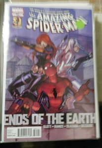 Amazing Spider-Man # 685  2012  marvel  ends of the earth pt 4+ black widow+