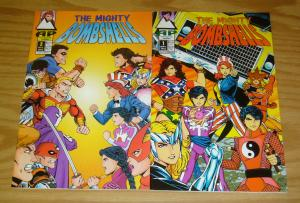 Mighty Bombshells #1-2 VF/NM complete series - pre-dates strangers in paradise 1