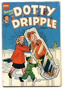 Horace and Dotty Dripple #34 1954- Golden Age humor VG