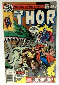 Thor  #278 Marvel 1978 VF+ Bronze Age Comic Book 1st Print