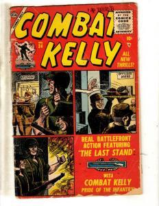 Combat Kelly # 34 VG Marvel Atlas Golden Age Comic Book War WW2 Battlefront JL2