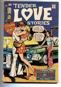 Tender Love Stories #4 1971 Skywald-Lingerie Panels-Race Car cover
