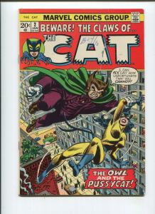 THE CAT #2 (7.5) BRONZE AGE MARVEL