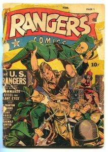 Rangers #9 comic book 1942- US RANGERS- decapitation FR