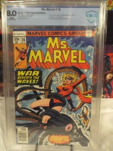 Ms. Marvel #16 - CBCS 8.0 - 1978 - 1st Appearance of Mystique in Cameo