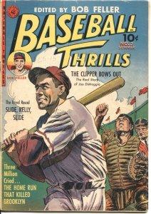 BASEBALL THRILLS #3-1952-KINSTLER ART-JOE DiMAGGIO-BOB FELLER-CLEVELAND INDIANS