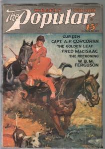 Popular 2/25/1928-Jerome Rozen fox hunt cover-adventure & mystery pulp-VG+