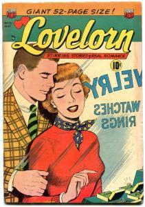 LOVELORN #25 1952-VIOLENT ROMANCE-NURSE STORY-RING COVER-very good VG