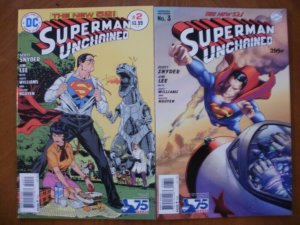 2 Near-Mint DC New 52 Comic: SUPERMAN UNCHAINED #2 #3 Snyder Lee Williams Nguyen