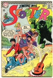 Swing with Scooter #2 1966- Monster cover- DC teen humor FN