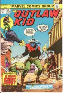OUTLAW KID (1970-1975 MARVEL) 26 F-VF  Feb. 1975 COMICS BOOK