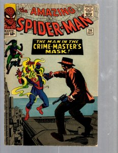 Amazing Spider-Man # 26 FN- Marvel Comic Book Lizard Vulture Human Torch TJ1