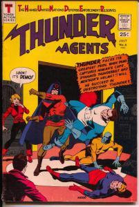 THUNDER Agents #6 1966-Tower-Dynamo-Warp Wizard origin-Wood-FN+