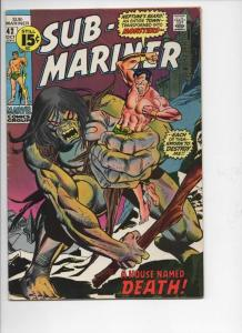 SUB-MARINER #42, FN, Tuska, Mooney, Marvel, 1968 1971, more in store