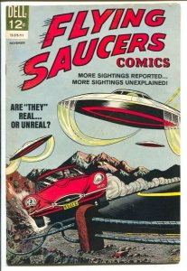 Flying saucers #4 1967-Dell- flying saucer attack cover-VF