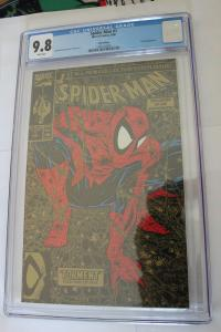 Spider-Man #1 Gold Edition 2nd Printing (Marvel, 1990) CGC NM/MT 9.8 White pages