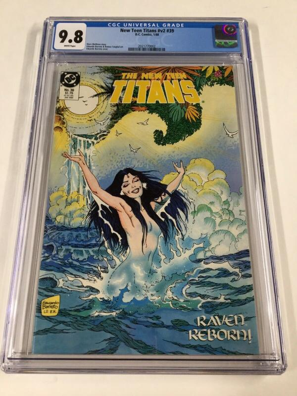 New Teen Titans 39 V Vol Volume 2  Cgc 9.8 White Pages Dc Comics Raven Cover