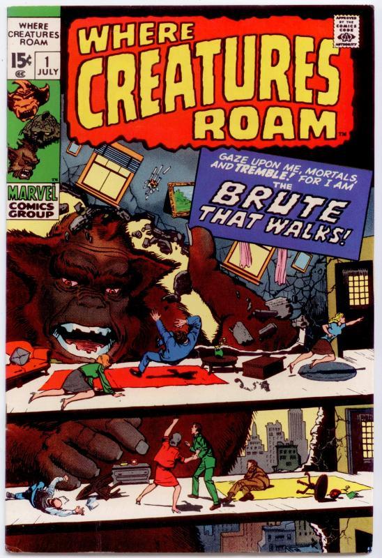 Where Creatures Roam #1 (Marvel 1970) VF+ 8.5  Kirby & Marie Severin