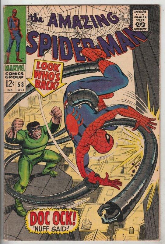 Amazing Spider-Man #53 (Oct-67) FN+ Mid-High-Grade Spider-Man