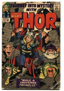JOURNEY INTO MYSTERY #123 comic book SILVER AGE MARVEL THOR JACK KIRBY
