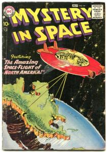 Mystery in Space #44 1958- Flying Saucer cover-DC Sci fi silver age VG