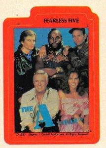 1983 Topps A-Team Sticker #7 Fearless Five