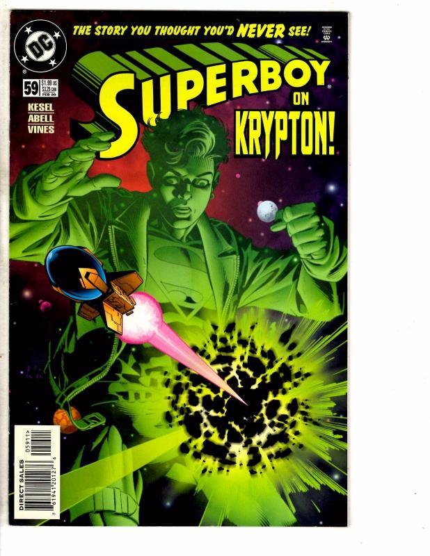 9 Superboy DC Comic Books # 56 57 58 59 61 62 63 64 65 Flash Superman Arrow J214