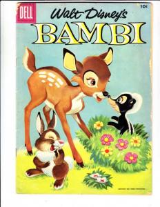 Movie Classics Bambi #3 (Apr-56) VG Affordable-Grade Bambi and Thumper