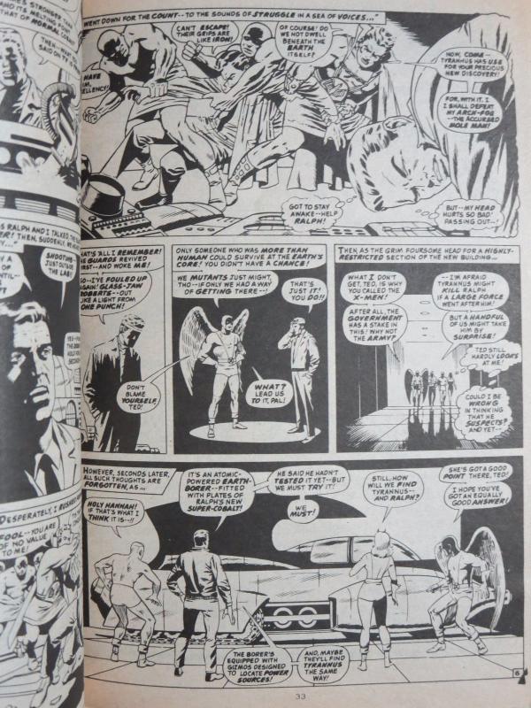 Marvel 1982 British Digest Lot D- 6Diff BW Spider-Man Fantastic Four X-Men
