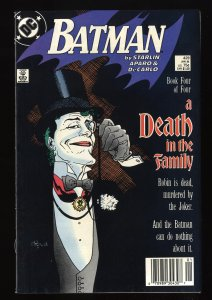 Batman #429 VF- 7.5 Death in the Family!