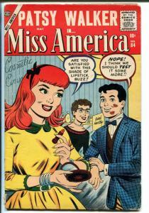 Miss America #84-1957-Patsy Walker-lipstick gag-VG MINUS